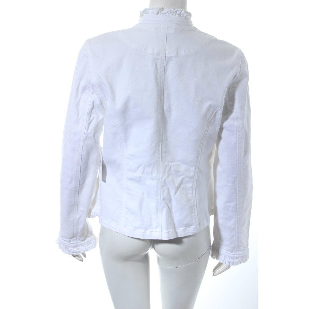 alba moda jeansjacke wei romantik look damen gr de 38 wei jacke jacket ebay. Black Bedroom Furniture Sets. Home Design Ideas