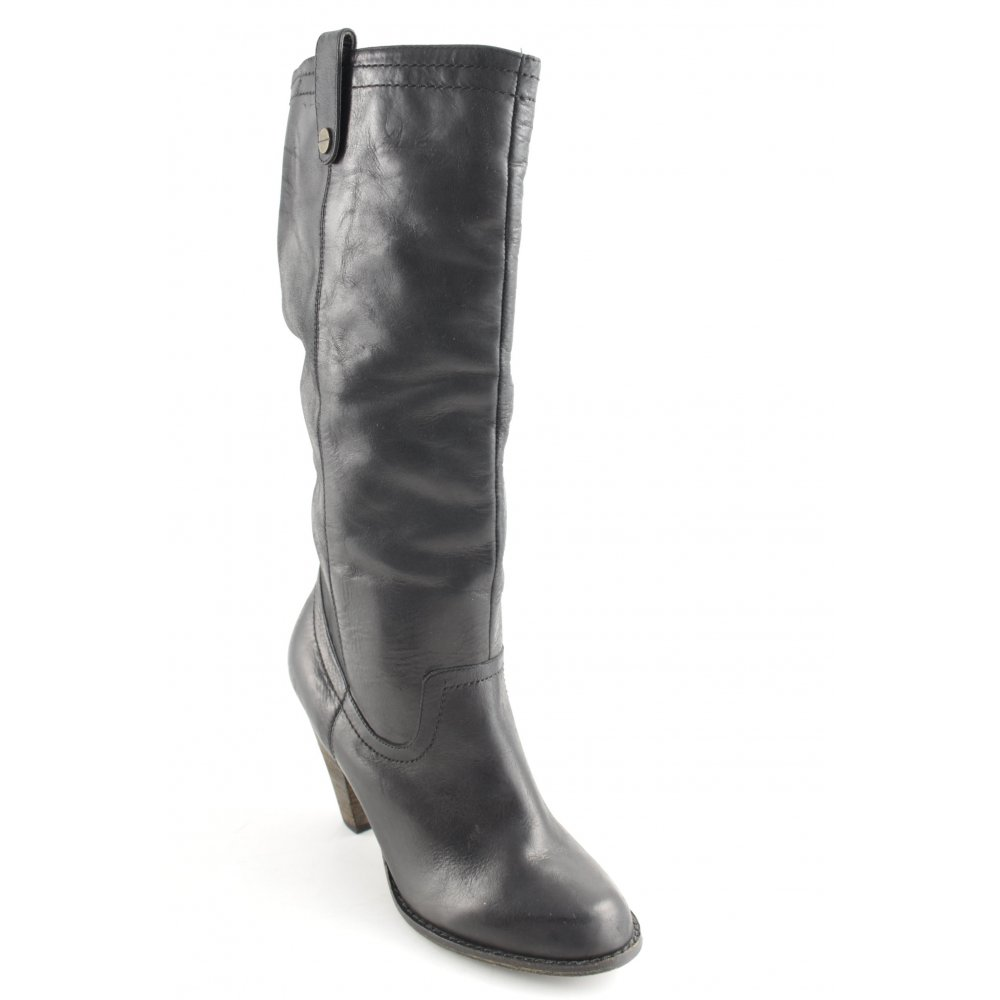 ALDO Schlüpf-Stiefeletten schwarz Casual-Look Damen DE Gr. DE Damen 39 botaies Leder 707f04