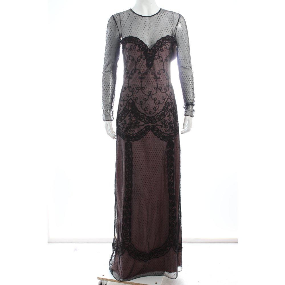 alice by temperley abendkleid schwarz altrosa eleganz look damen gr de 36 kleid ebay. Black Bedroom Furniture Sets. Home Design Ideas