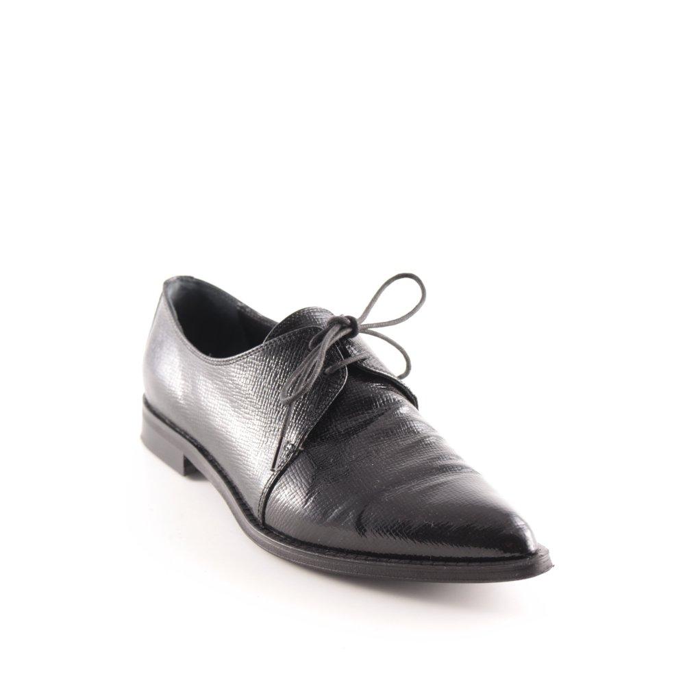 Details zu ANDREA PUCCINI Schnürschuhe schwarz Elegant Damen Gr. DE 36 Halbschuhe Low Shoes