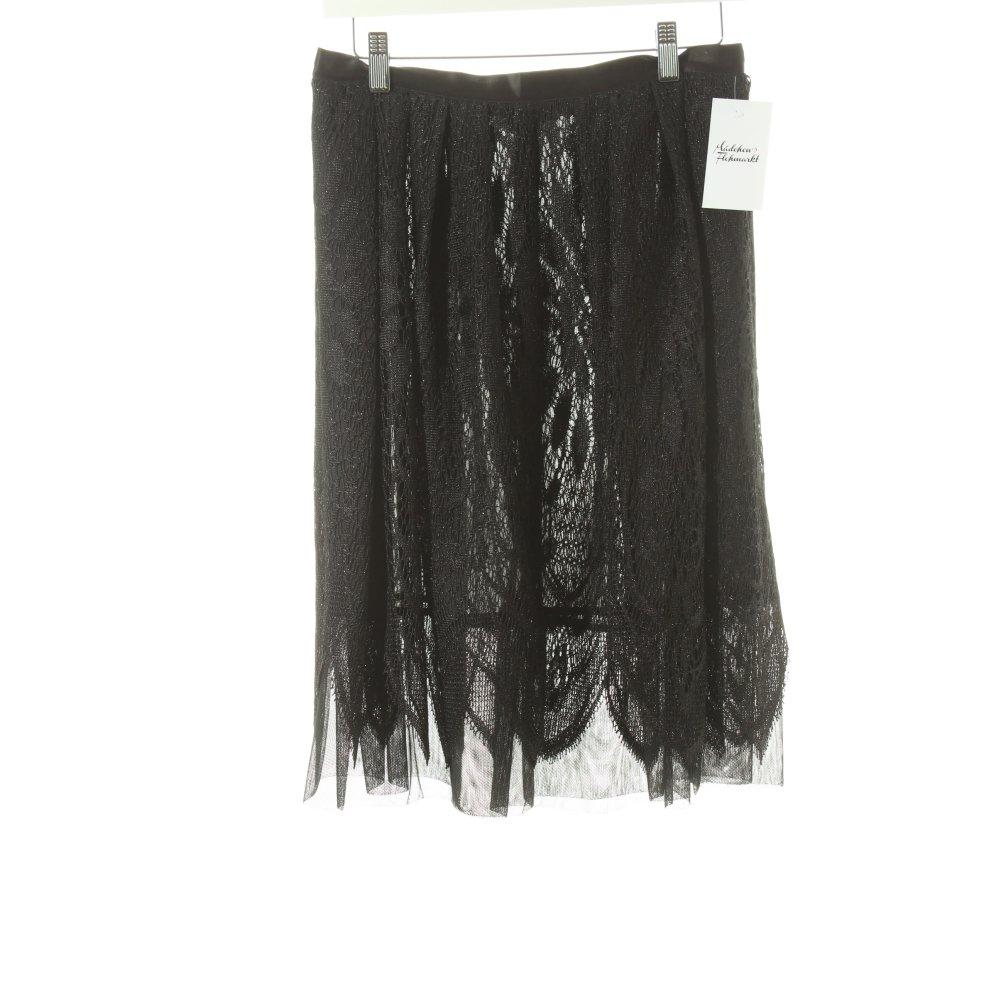 anna sui high waist rock schwarz glanz optik damen gr de 34 skirt ebay. Black Bedroom Furniture Sets. Home Design Ideas