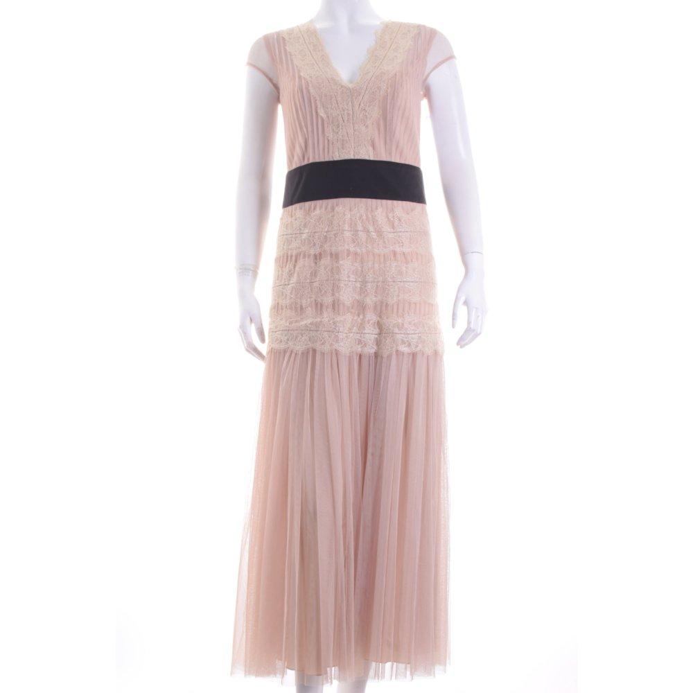 apart abendkleid beige schwarz elegant damen gr de 34 kleid dress evening dress ebay. Black Bedroom Furniture Sets. Home Design Ideas