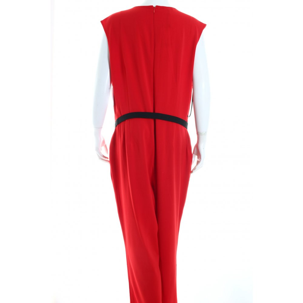 apart jumpsuit red street fashion look women s size uk 16 trousers. Black Bedroom Furniture Sets. Home Design Ideas