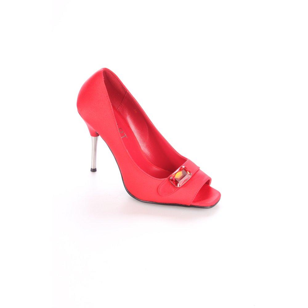 Apart PEEP TOE PUMPS Multicolore elegante da donna tg. de TOE 36 rosso mattone PEEP TOE de PUMPS 31f834