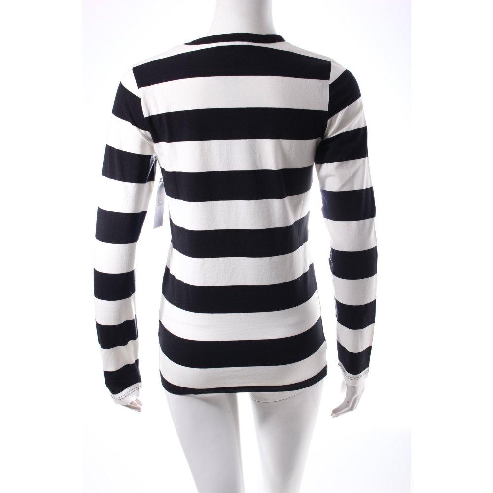 apart ringelshirt schwarz wei ringelmuster casual look damen gr de 32 shirt ebay. Black Bedroom Furniture Sets. Home Design Ideas