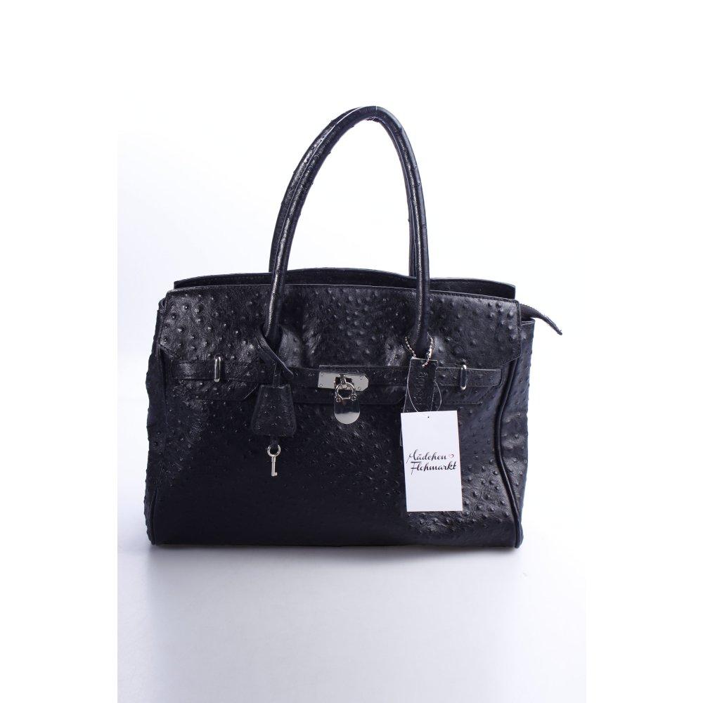 appetizer henkeltasche schwarz reptil optik damen tasche bag leder carry bag ebay. Black Bedroom Furniture Sets. Home Design Ideas
