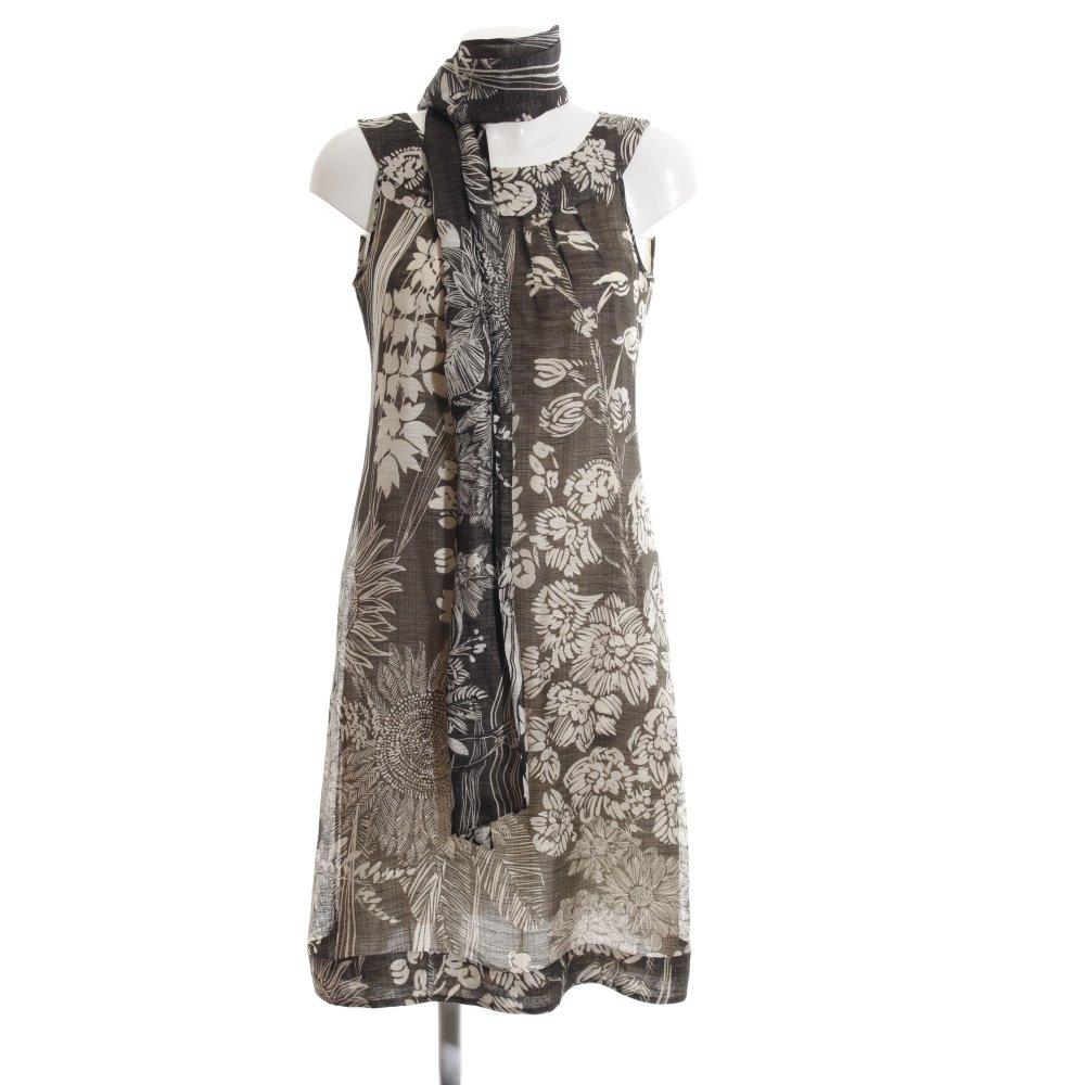 Imprimé Détails Cassé Blanc Robe Dames À Courtes Allover Manches Collezioni Sur Armani Noir ONnP80kXw