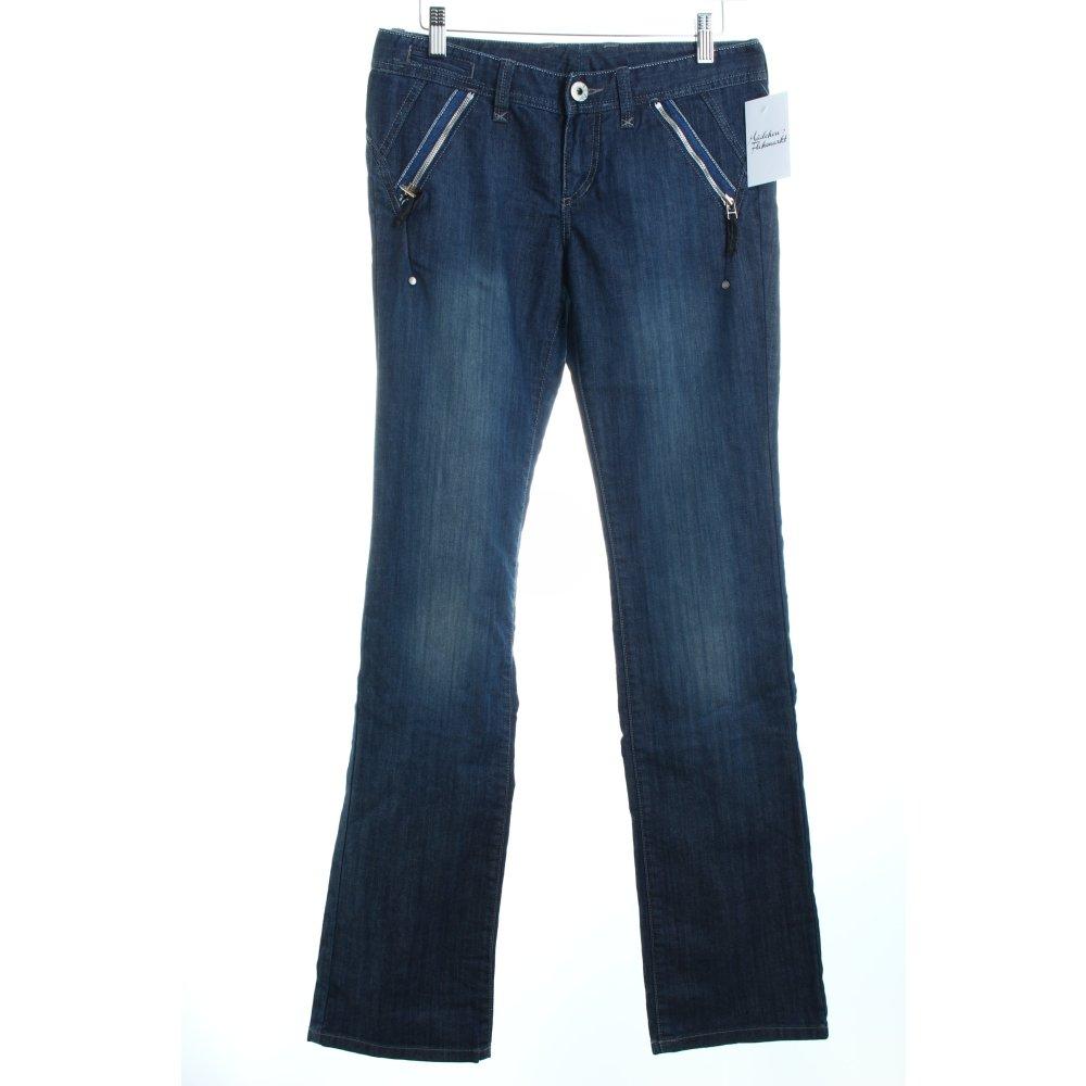 ARMANI EXCHANGE Straight Leg Jeans blue casual look Womenu2019s Size UK 8 | eBay