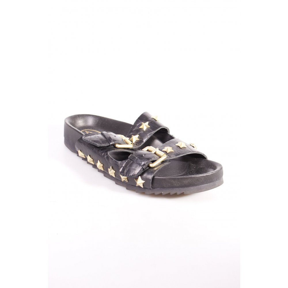 ASH Comfort Sandals black-gold-colored star pattern casual ...