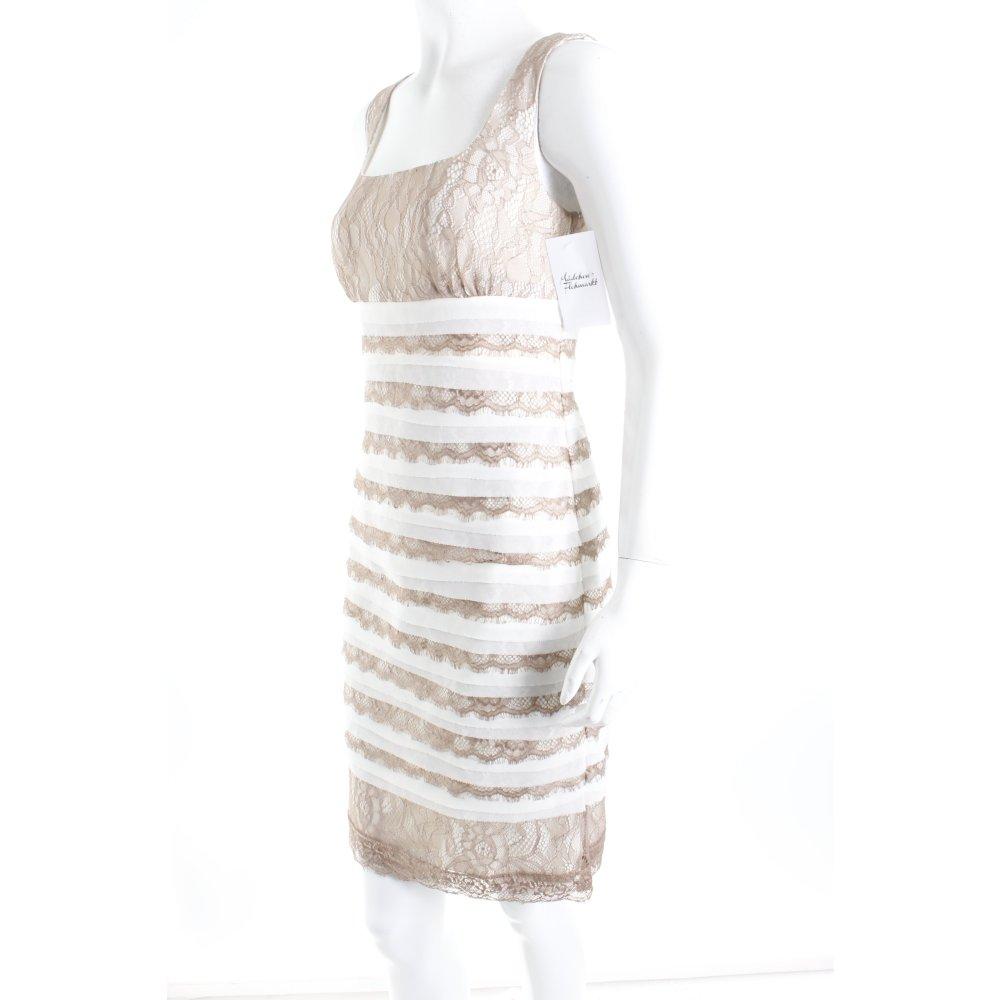ashley brooke spitzenkleid wollwei beige eleganz look damen gr de 34 kleid ebay. Black Bedroom Furniture Sets. Home Design Ideas