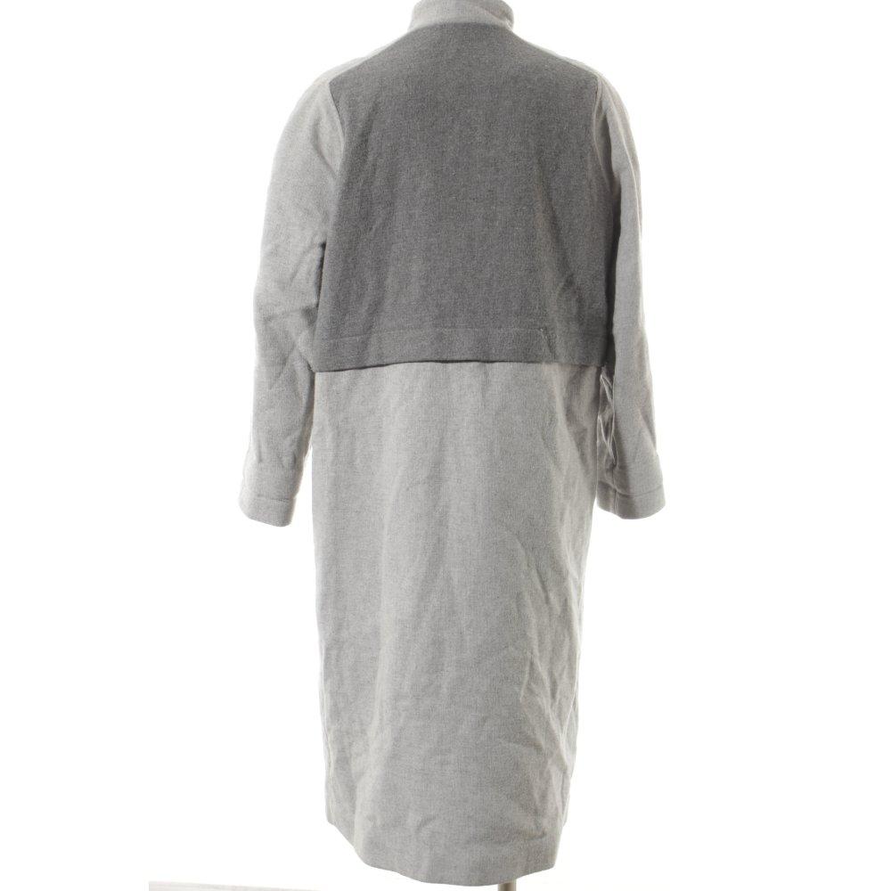 asos wollmantel grau hellgrau klassischer stil damen gr de 42 mantel coat ebay. Black Bedroom Furniture Sets. Home Design Ideas