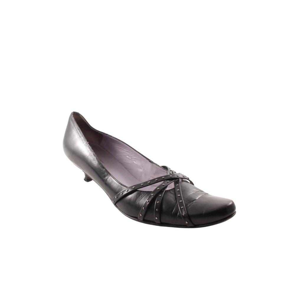 AUDLEY Dcollet a punta nero stile casual Donna Taglia IT 38 Dcollet Pelle