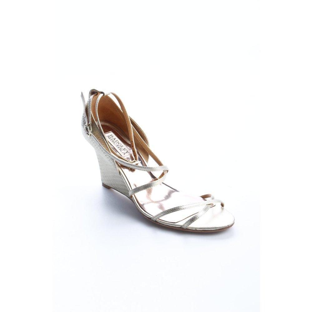 BADGLEY MISCHKA Wedge Pumps gold-colored elegant Women's ...