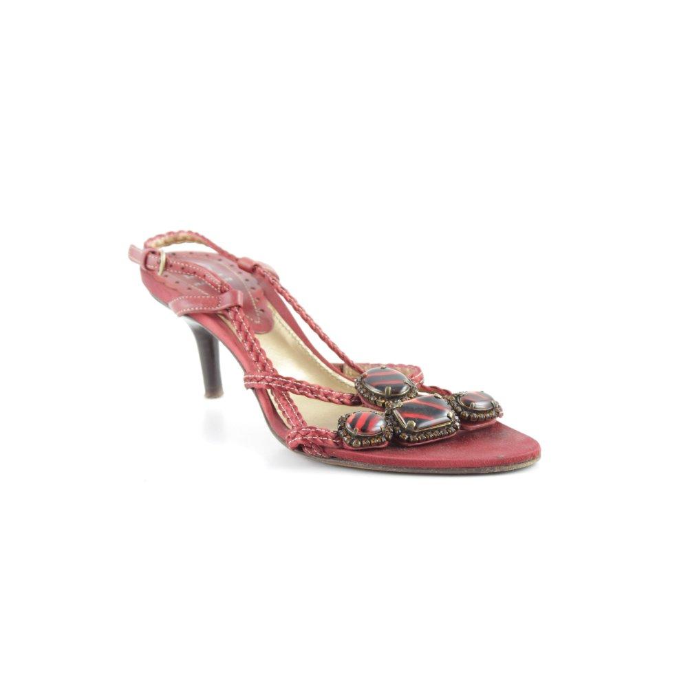 BALDAN Sandalo con cinturino e tacco alto rosso scuro stile casual Donna