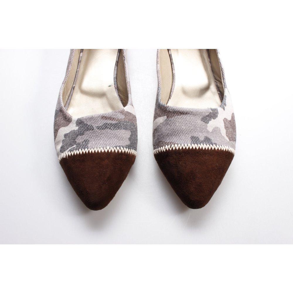 ballerinas camouflage muster damen gr de 40 graublau schuhe shoes damenschuhe ebay. Black Bedroom Furniture Sets. Home Design Ideas