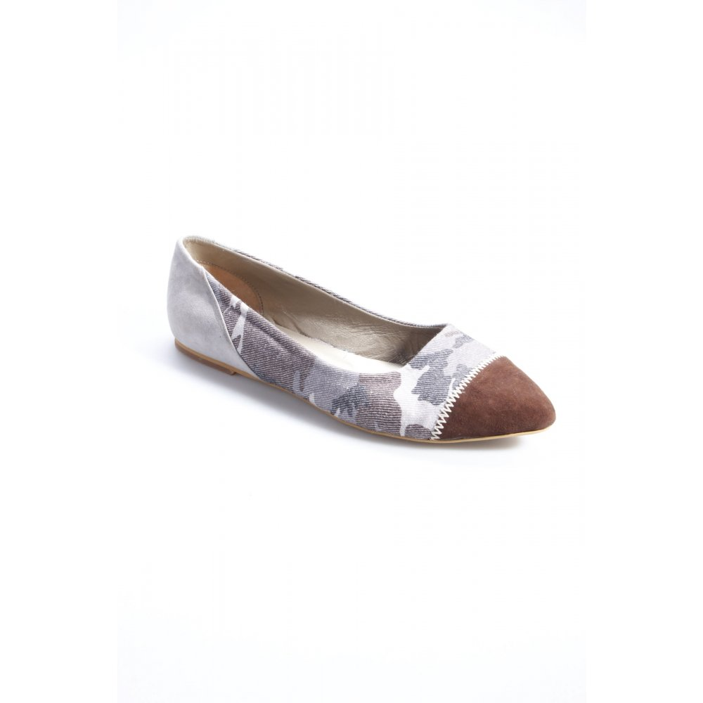 ballerinas camouflage muster damen gr de 40 graublau schuhe shoes damenschuhe. Black Bedroom Furniture Sets. Home Design Ideas