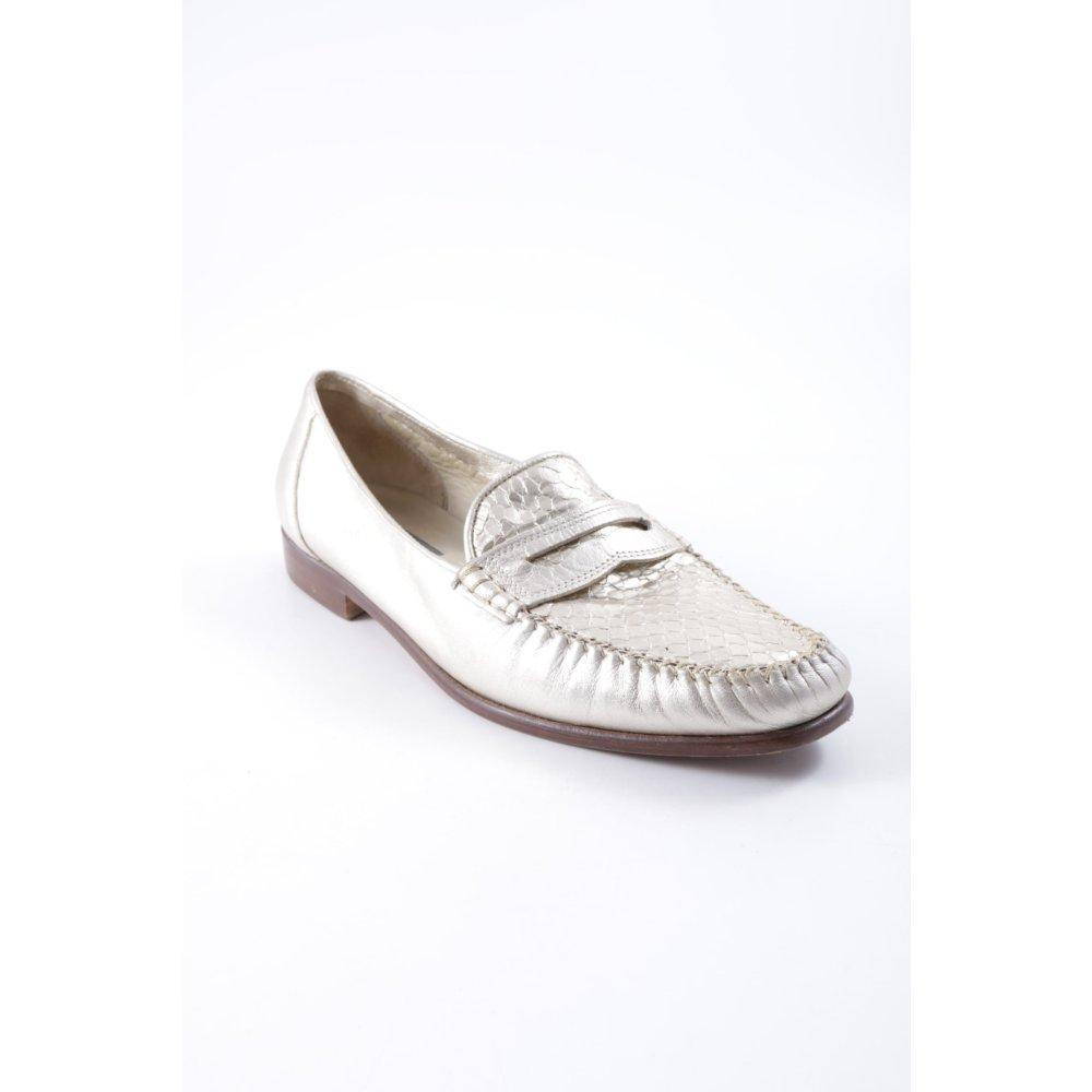 BALLY Schlüpf zapatos  Damen Orofarben Animalmuster Metall-Optik Damen  Gr. DE 40 2ce14e