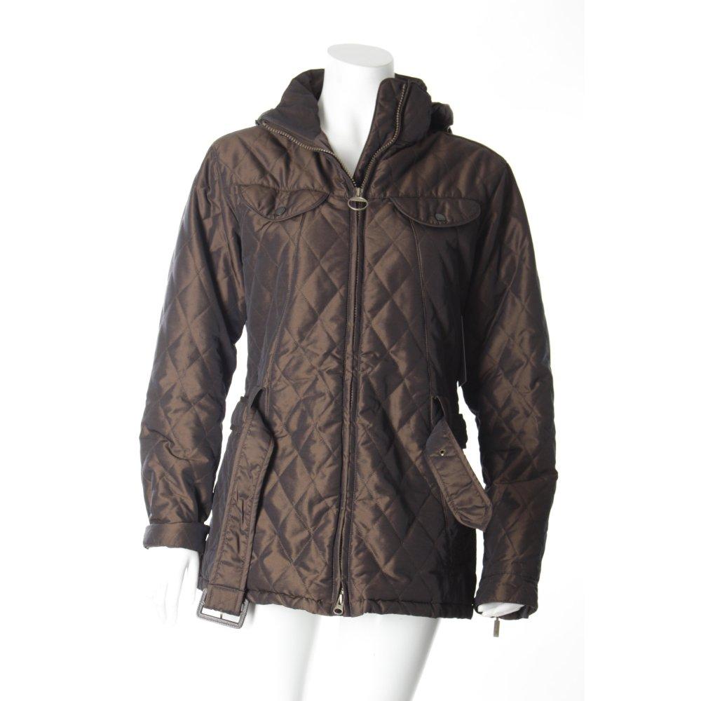 barbour steppjacke braun steppmuster glanz optik damen gr de 38 jacke jacket ebay. Black Bedroom Furniture Sets. Home Design Ideas