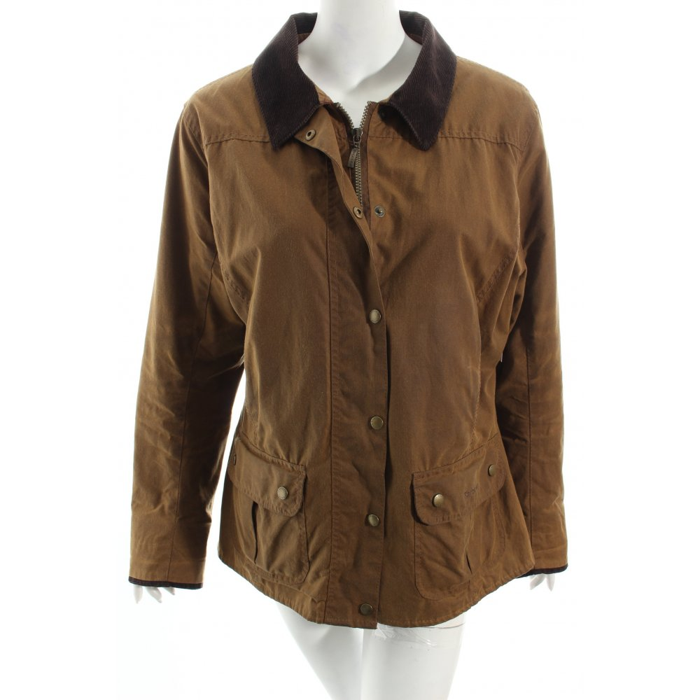 BARBOUR Waxed Jacket brown country style Women's Size UK ...