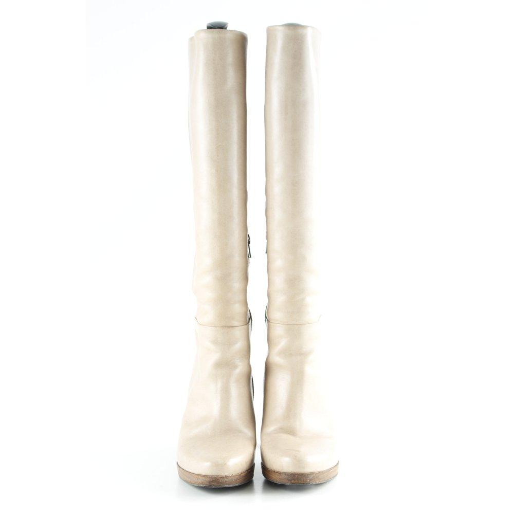 release date f6ea2 d35dd Détails sur Belmondo Plateforme-Bottes Crème Casual-Look Femmes Taille FR  39 high boots cuir- afficher le titre d'origine