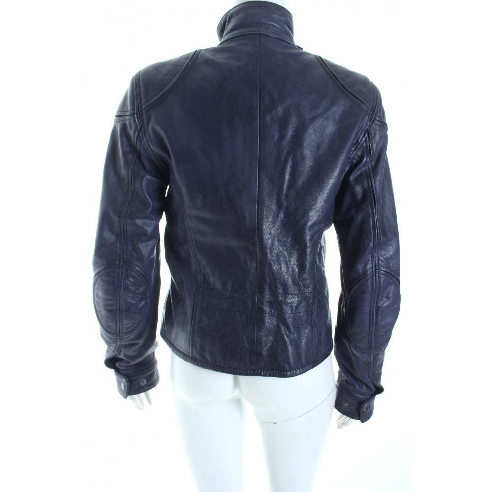 belstaff lederjacke dunkelviolett biker look damen gr de 40 jacke jacket leder ebay. Black Bedroom Furniture Sets. Home Design Ideas