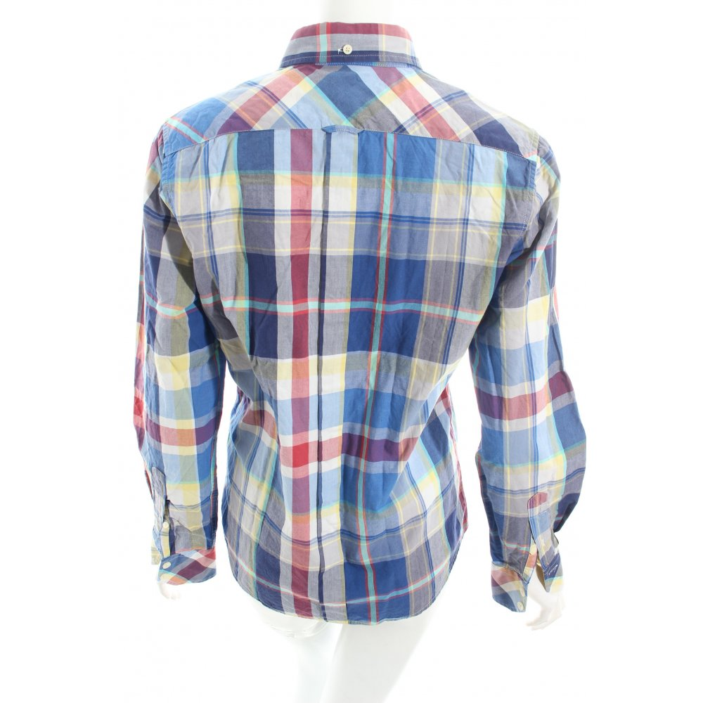 Ben sherman long sleeve shirt check pattern embroidered for Long sleeve shirt pattern