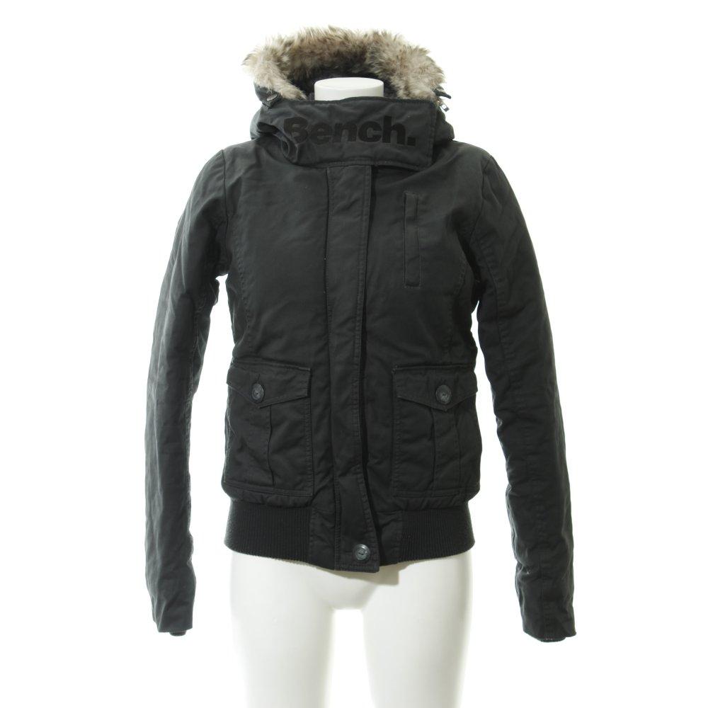 BENCH Winterjacke schwarz Casual Look Damen Gr. DE 36 Jacke