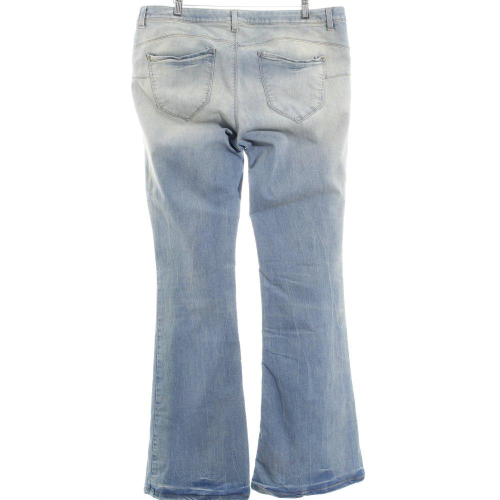 benetton jeansschlaghose flare damen gr de 46 hellblau jeans denim flares ebay. Black Bedroom Furniture Sets. Home Design Ideas