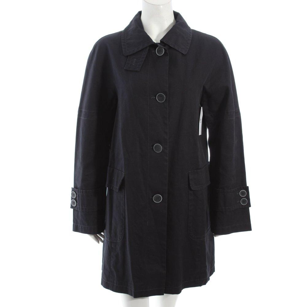 benetton trenchcoat dunkelblau klassischer stil damen gr de 42 mantel coat ebay. Black Bedroom Furniture Sets. Home Design Ideas
