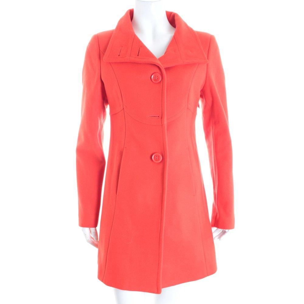 benetton wollmantel rot klassischer stil damen gr de 36 mantel coat wool coat ebay. Black Bedroom Furniture Sets. Home Design Ideas