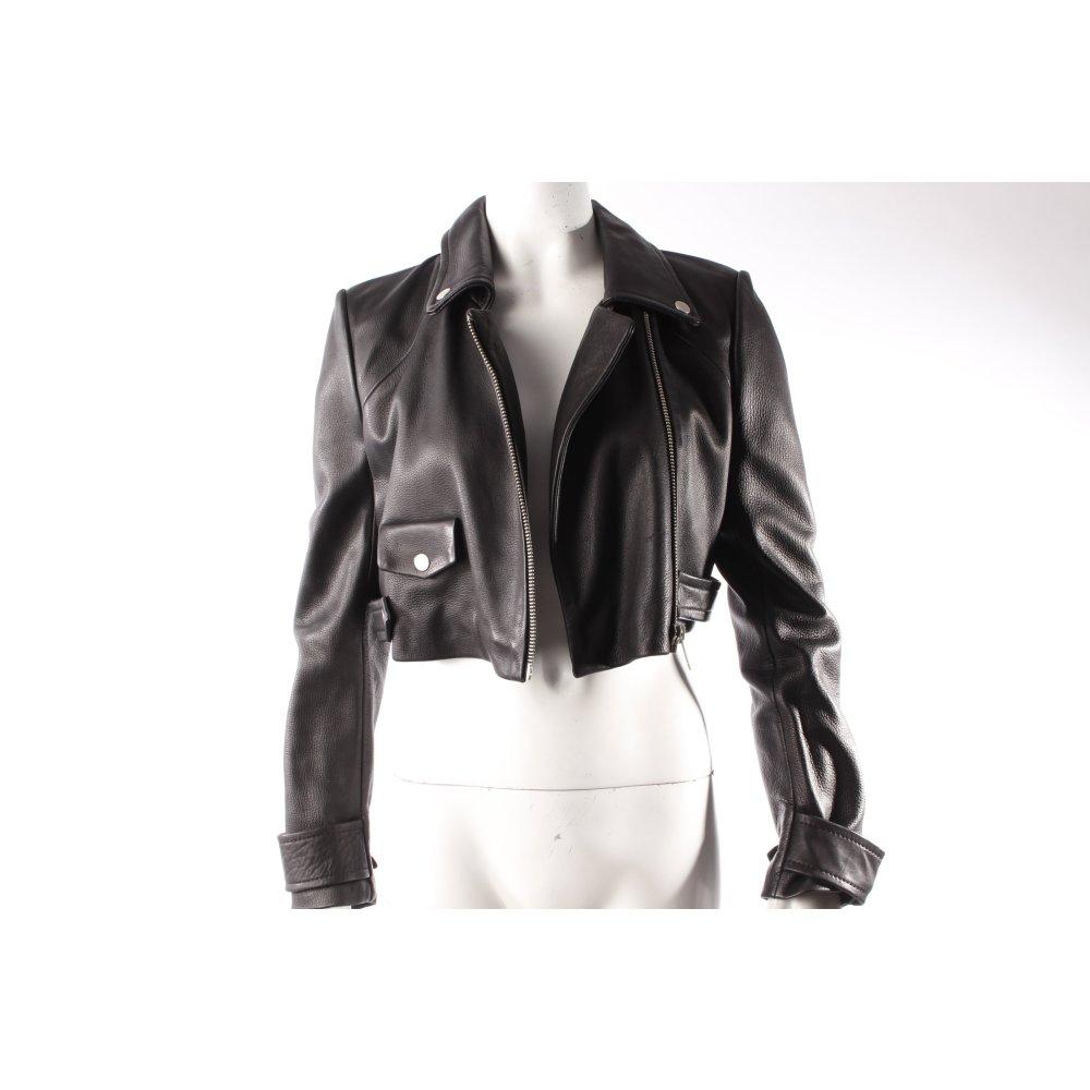 bershka lederjacke schwarz damen gr de 38 jacke jacket. Black Bedroom Furniture Sets. Home Design Ideas