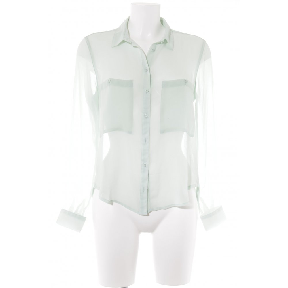 en venta diversificado en envases estética de lujo Detalles de BERSHKA Blusa transparente menta Patrón de tejido look casual  Mujeres