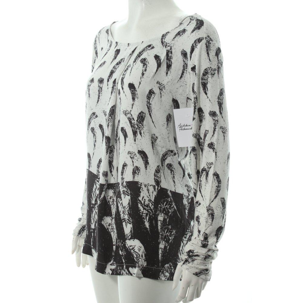 betty co shirt wei schwarz abstraktes muster klassischer stil damen wei ebay. Black Bedroom Furniture Sets. Home Design Ideas