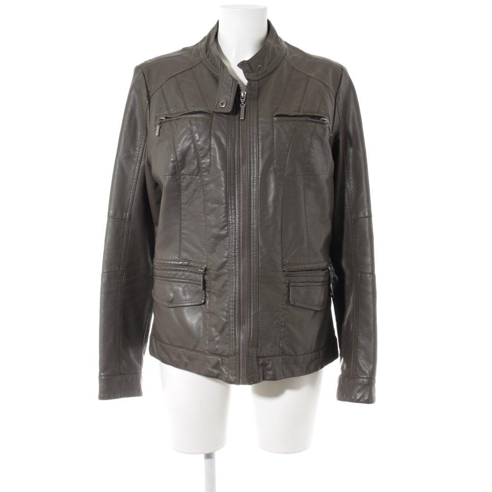 ;xxl 46-48 44-46 giacca donna chiodo donna ecopelle nera zip dorate taglie xl