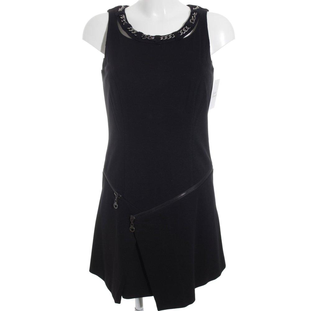 biba a linien kleid schwarz schlichter stil damen gr de 34 dress a line dress ebay. Black Bedroom Furniture Sets. Home Design Ideas