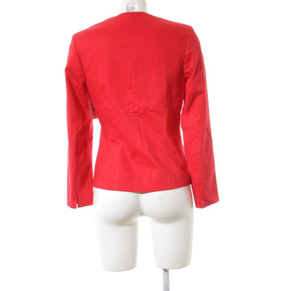 biba kurz blazer rot elegant damen gr de 34 short blazer ebay. Black Bedroom Furniture Sets. Home Design Ideas