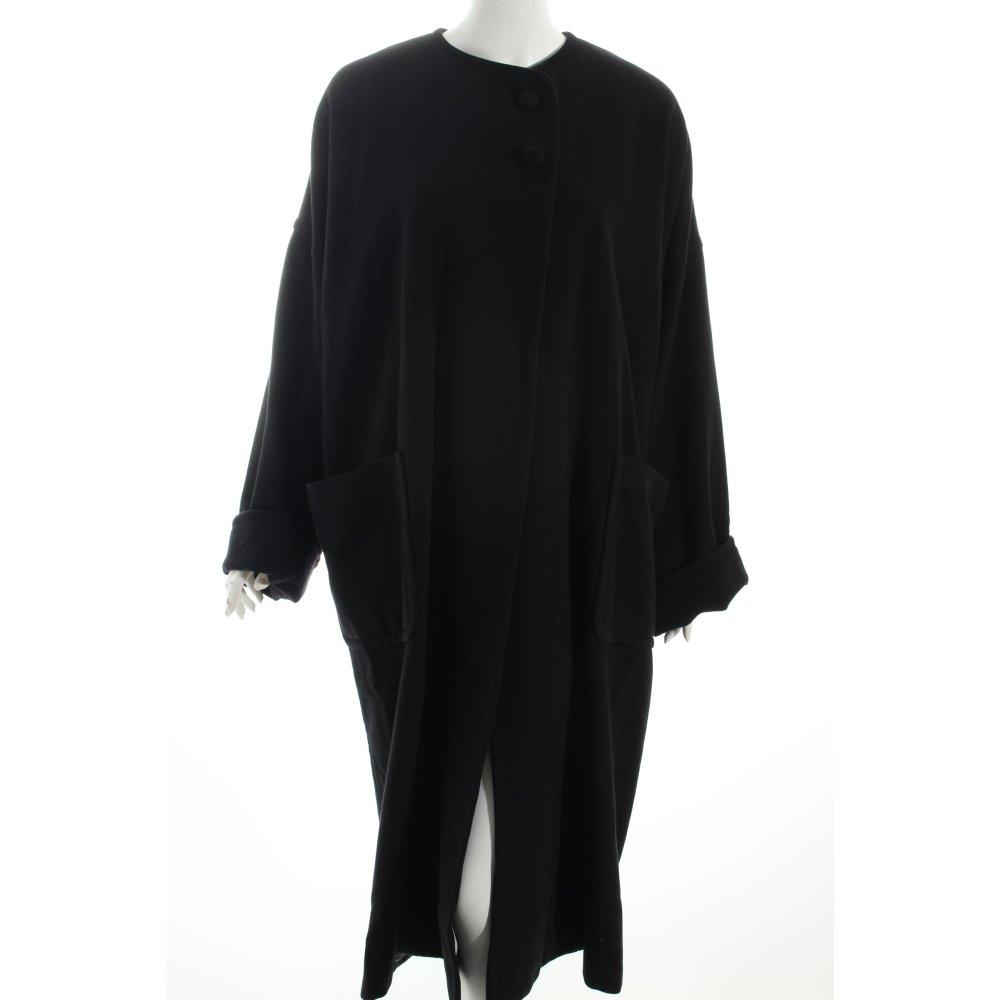 bisang couture oversized mantel schwarz eleganz look damen. Black Bedroom Furniture Sets. Home Design Ideas