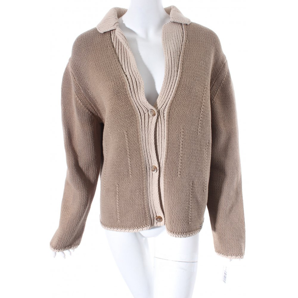 blue willi s strickjacke hellbraun beige casual look damen gr de 42 knitwear. Black Bedroom Furniture Sets. Home Design Ideas