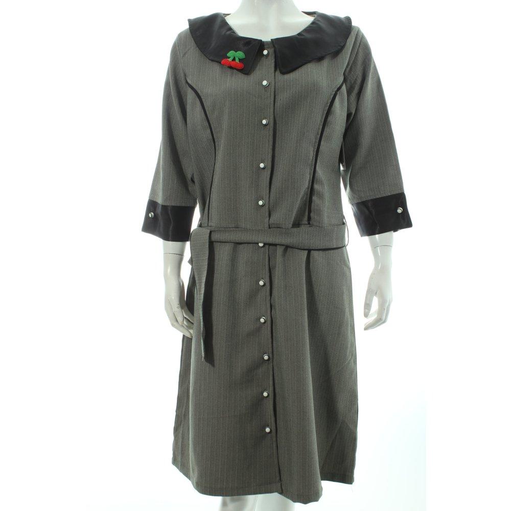 blusenkleid fischgr tmuster rockabilly look damen gr de 42 schwarz kleid dress ebay. Black Bedroom Furniture Sets. Home Design Ideas