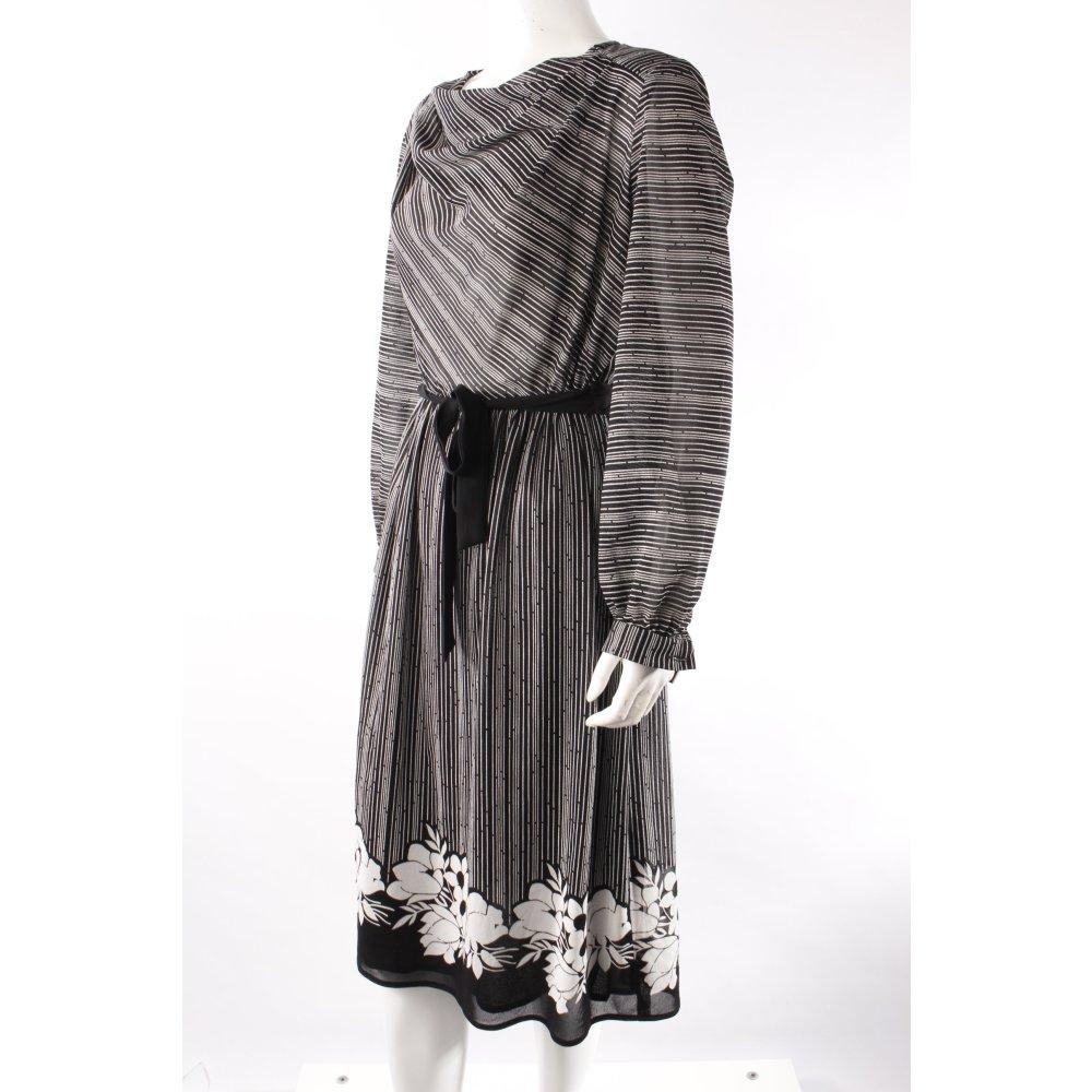 blusenkleid schwarz wei gestreift damen gr de 38 kleid dress blouse dress. Black Bedroom Furniture Sets. Home Design Ideas