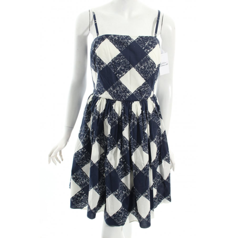 Boden kleid dunkelblau wei damen gr de 38 baumwolle for Mode boden versand
