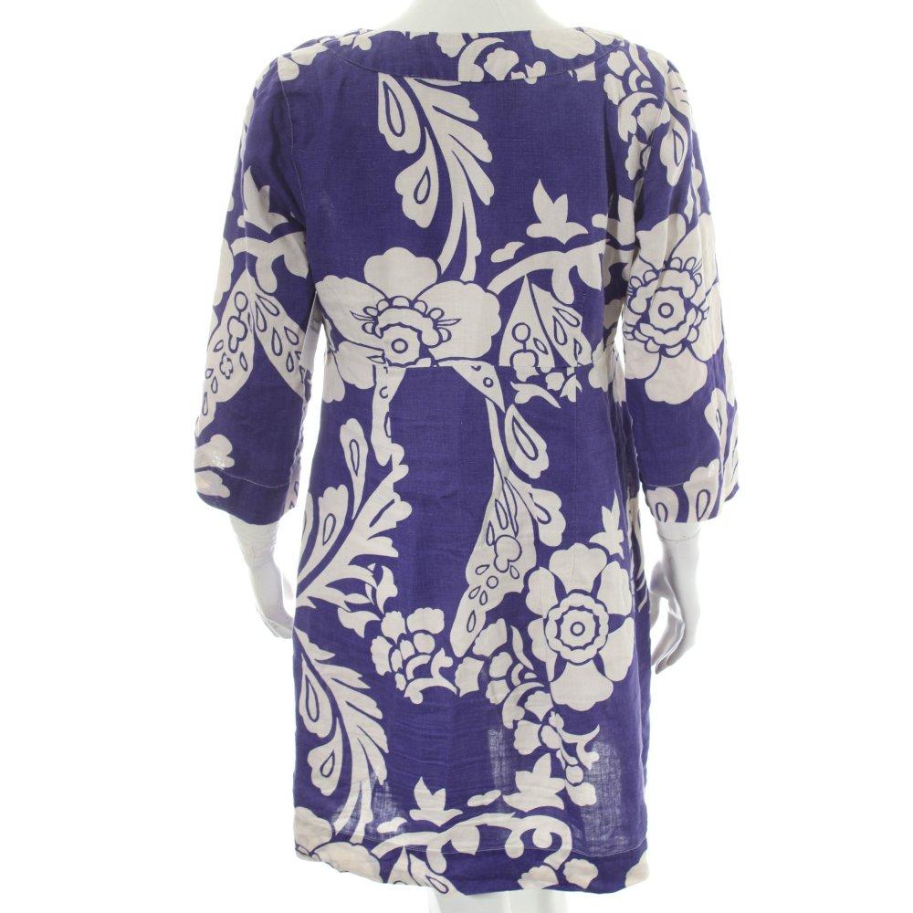 Boden kleid wei lila casual look damen gr de 36 wei dress for Mode boden versand