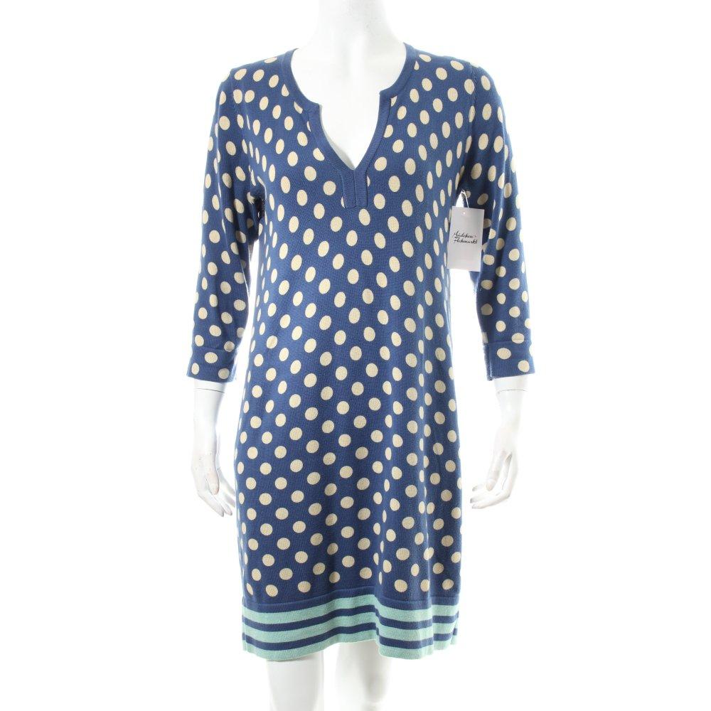 Boden strickkleid punktemuster damen gr de 36 stahlblau for Mode boden versand
