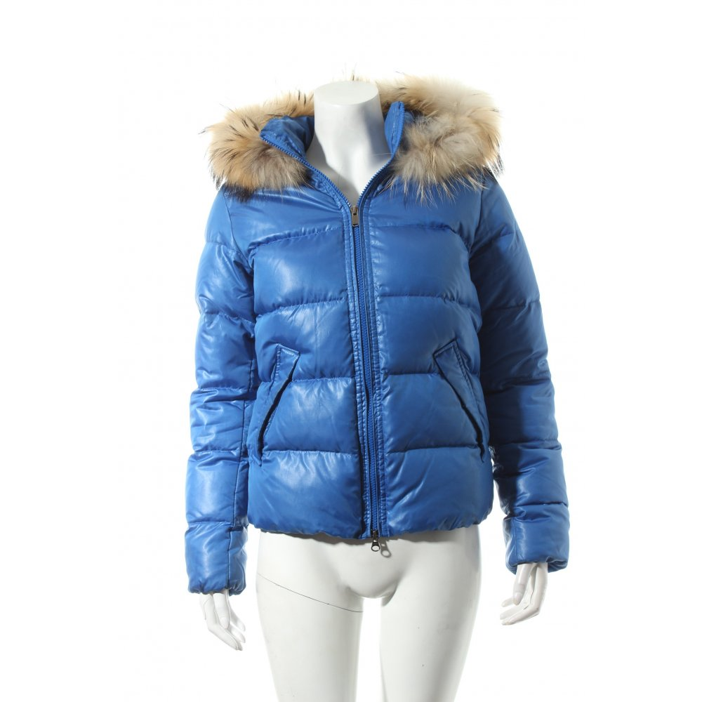 bomboogie daunenjacke blau beige sportlicher stil damen gr de 32 jacke jacket. Black Bedroom Furniture Sets. Home Design Ideas