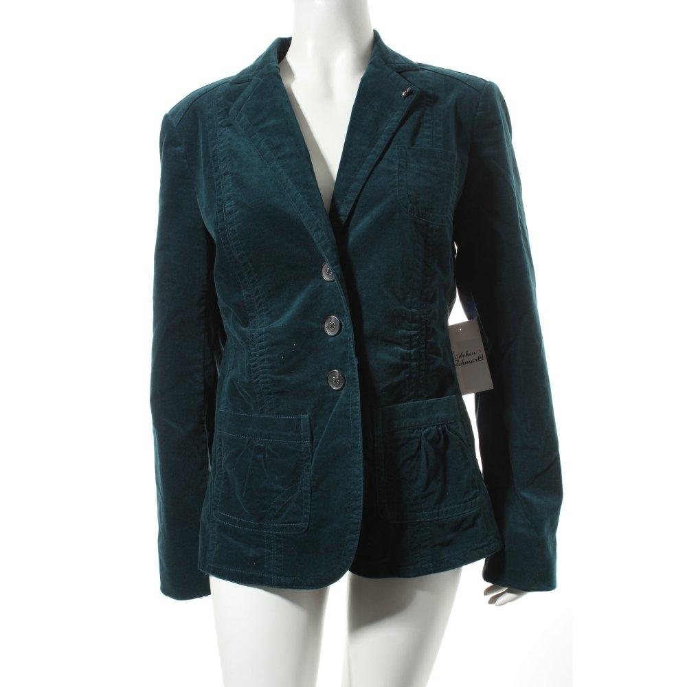 bonita kurz blazer dunkelgr n casual look damen gr de 40 short blazer ebay. Black Bedroom Furniture Sets. Home Design Ideas