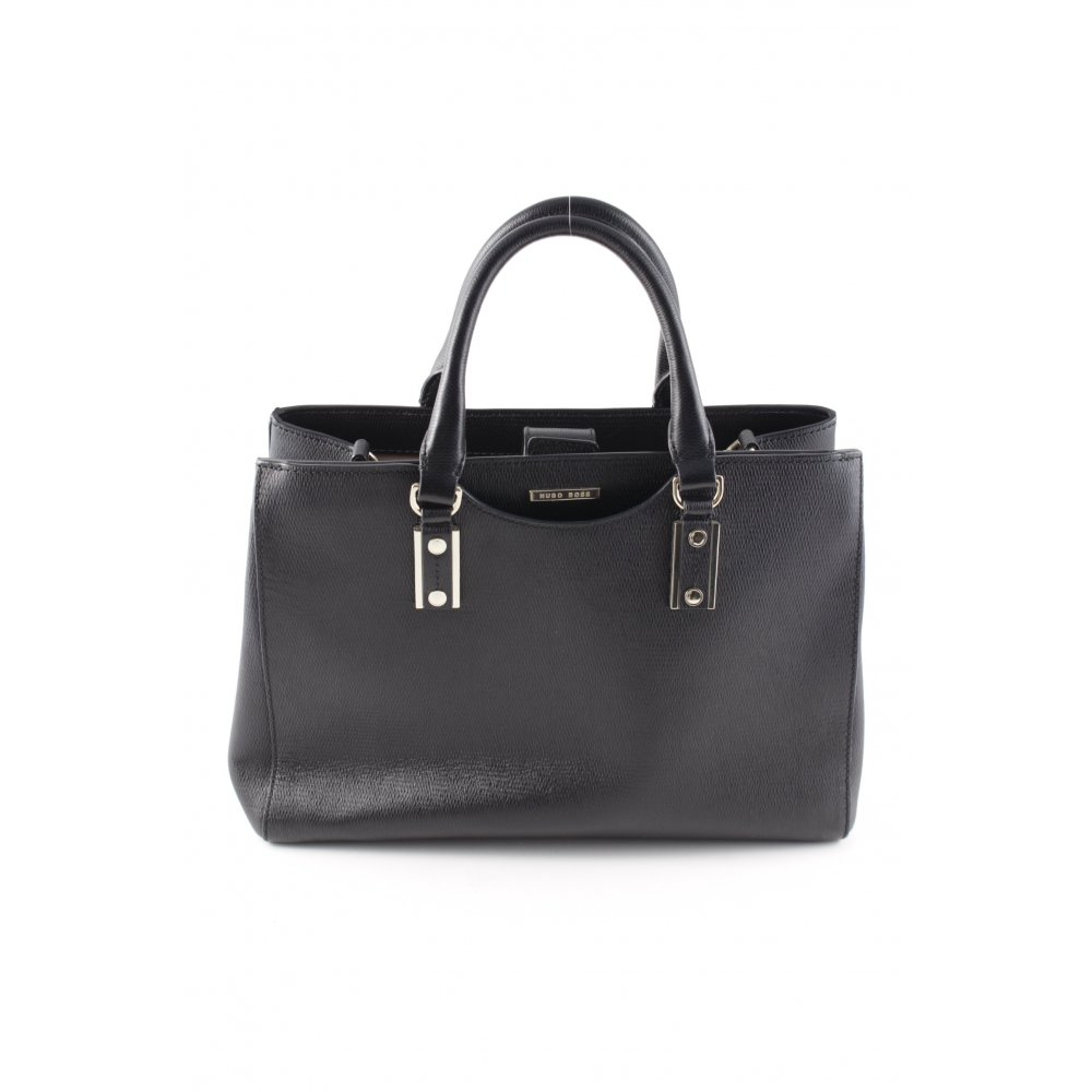boss hugo boss handtasche schwarz elegant damen tasche bag leder handbag ebay. Black Bedroom Furniture Sets. Home Design Ideas