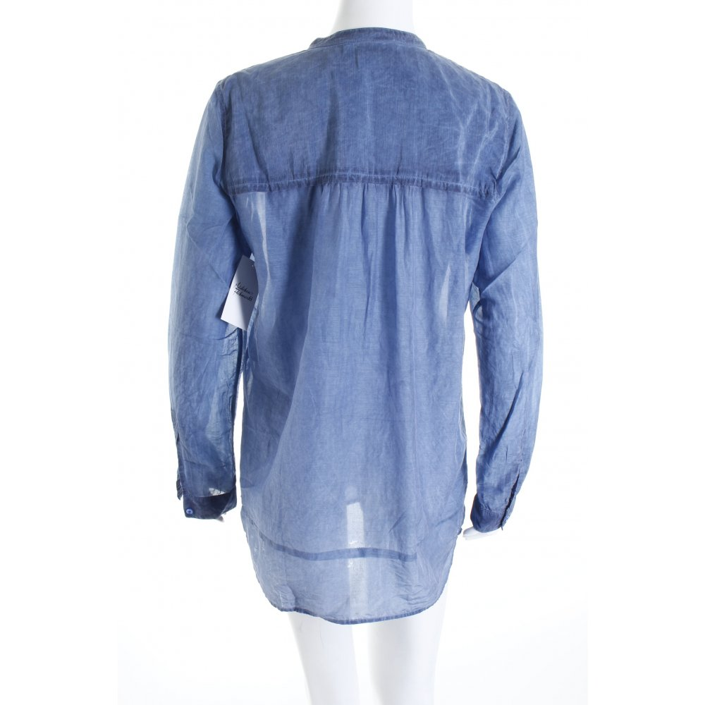 boss orange langarm bluse stahlblau jeans optik damen gr. Black Bedroom Furniture Sets. Home Design Ideas