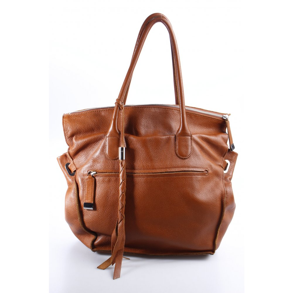 bree handtasche cognac casual look damen tasche bag leder handbag ebay. Black Bedroom Furniture Sets. Home Design Ideas