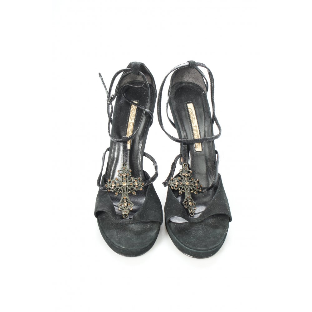 buffalo high heel sandaletten schwarz gothic look damen gr. Black Bedroom Furniture Sets. Home Design Ideas