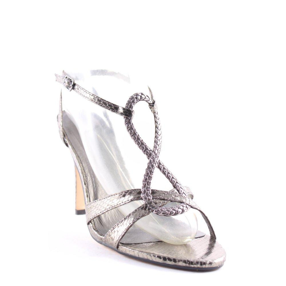 BUFFALO Sandalo con cinturino e tacco alto verdegrigioargento elegante Donna